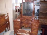 Beautiful Vintage Carved Lighthouse Bedroom Set Bed Vanity