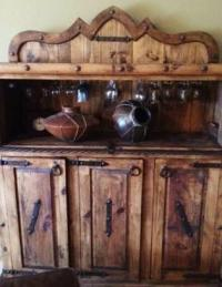 BIG! Buffet/Wine Cabinet/Dry Bar Rustic Reclaimed ...