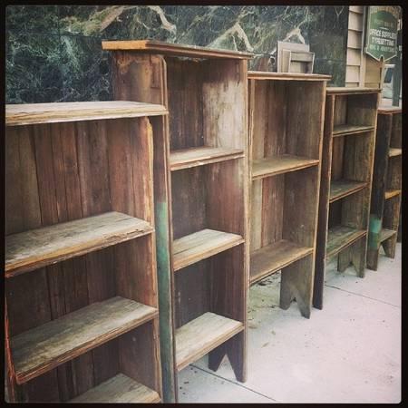 Bookshelf Rustic Bookcase Primitive Bookcase For Sale