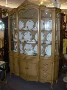BowFront French Country China Cabinet  Sunrise Antiques
