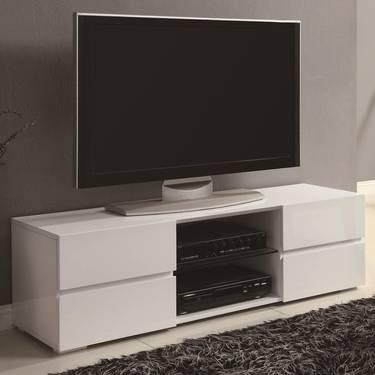 CONTEMPORARY TV STANDS HIGH GLOSS WHITE TV STAND WITH