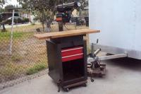 "Craftsman 10"" Radial Arm Saw With Cabinet Stand On Wheels ..."