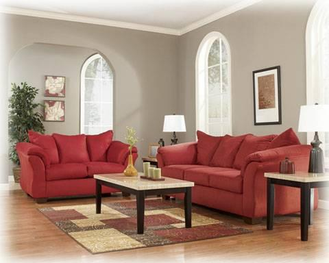addison sofa ashley furniture cushion for set darcy salsa and loveseat free delivery