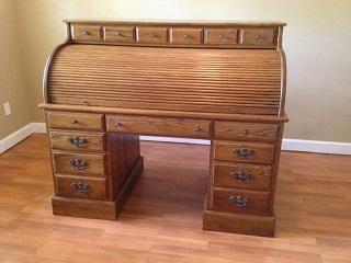 Ethan Allen Solid Oak Roll Top Desk For Sale In Frostproof