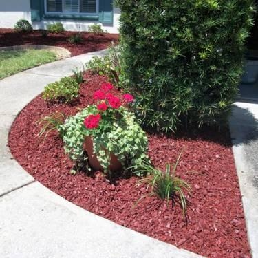 everlast cedar red rubber mulch