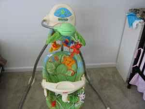 rainforest high chair cover rentals guelph fisher price cradle swing graco like new