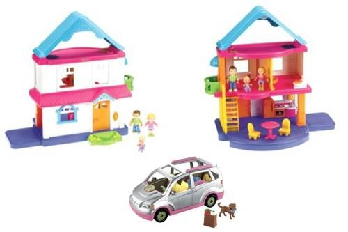 Fisher Price My First Dollhouse, Furniture & Minivan For