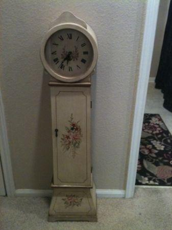 Floor CLOCK Storage Hand Painted Roses Shabby Chic Romantic County  TempleTX for Sale in