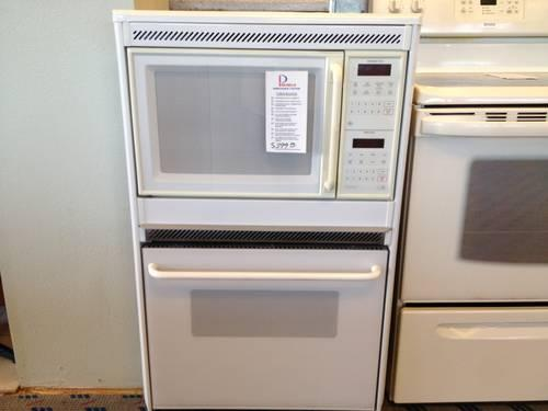 ge white 27 combo built in wall oven