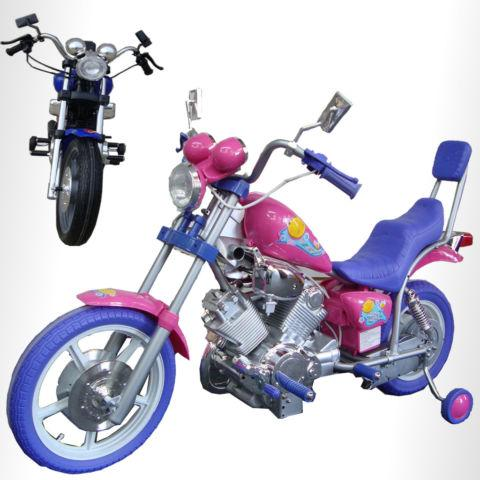 Girly Pink Harley Style Kids Ride On