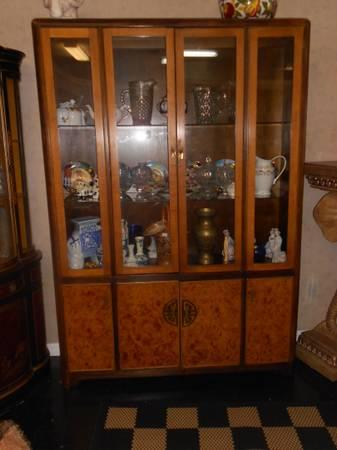 Gorgeous Asian Style China Cabinet by Bernhardt  for Sale