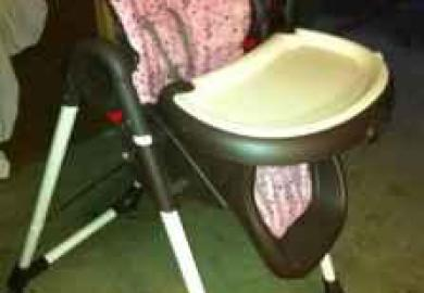 Graco High Chair Pink And Brown