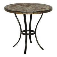 Hampton Bay 30 in. Round Slate Patio Bistro Table for Sale ...