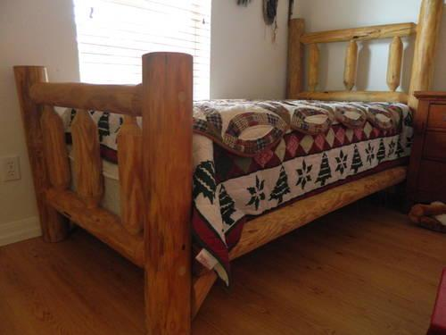 Handmade Twin Pine Log Bed Twin For Sale In Englewood Florida Classified