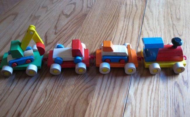 Handmade Wood Toy Train Trucks Milwaukee For Sale In