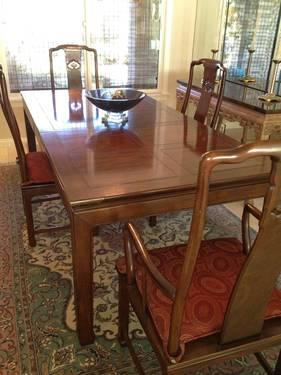 wire dining room chairs reclaimed wood chair henredon