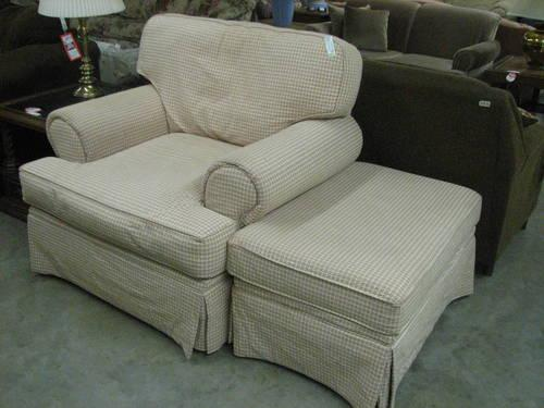 Hickory Hill Oversize Arm Chair and Ottoman for Sale in