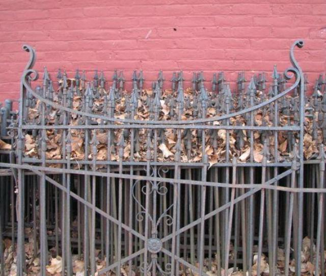 Historic Antique Wrought Iron Fence From Saline