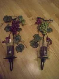 Home Interiors/Celebrating Home Grape Candle Sconces ...