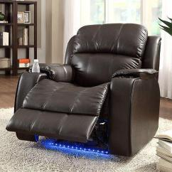 Genuine Leather Power Reclining Sofa Pet Cover Bolster Hot Deal! Recliner With Massage And Cold Cup Holder ...