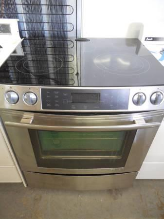 Jenn Air Used Stianless Steel Slide In Electric Range W
