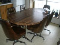 Kitchen table and 6 comfy chairs for Sale in Fond Du Lac ...