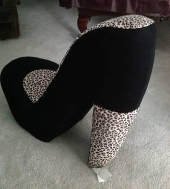 leopard high heel shoe chair re sling patio chairs black for sale in rochester minnesota