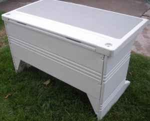 Light Gray Rubbermaid type Desk with Chair  Kimberly