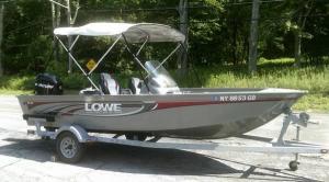 Lowe 2008 FM165 Aluminum Boat w 60 HP Mercury EFI 4