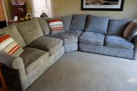 Doss Sofa Doss Fabric Microfiber Sectional Sofa 4 Piece ...