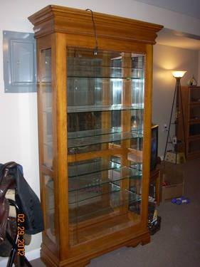 Make An Offer Solid Oak Curio Cabinet Display Lights