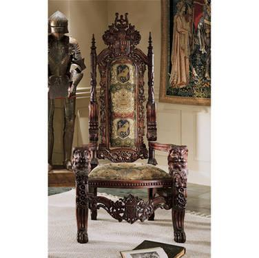 kings chair for sale wedding covers designs medieval replica throne in fishers indiana