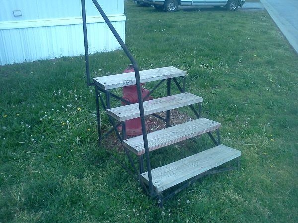 Mobile Home Steps Webb City Mo For Sale In Joplin Missouri | Wooden Stairs For Mobile Home | Pre Built | Prefabricated | Simple | Wood Camper | Patio