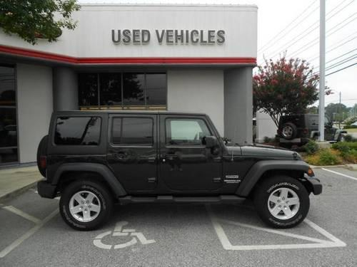NATURAL GREEN 2011 JEEP WRANGLER UNLIMITED SPORT 4WD 4