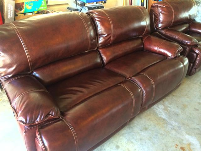 NEW IN PLASTIC Havertys MADDUX Top Grain Leather Couch