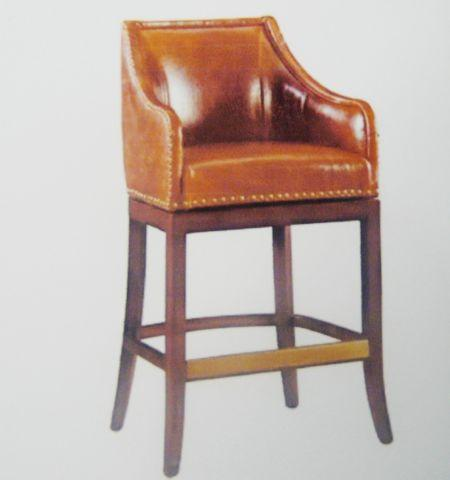 New Manchesterleatherswivel Barstools (2 For Sale In