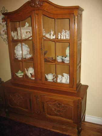 Oak china CabinetFrench Country Style  for Sale in