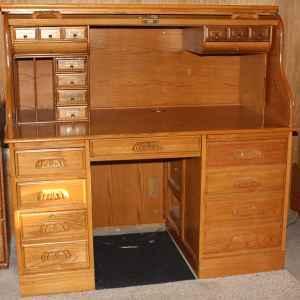 Oak Rolltop Desk Reduced Rockport Ind For Sale In