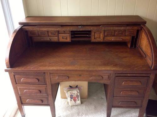Old wooden desk Solid wood for Sale in La Jolla