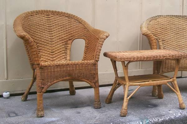 wicker chair for sale tables and chairs toddlers one natural desk simple to paint good cond