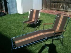 zip dee chairs soccer chair and ottoman original camping folding - (merced) for sale in merced, california classified ...