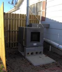 Outdoor wood heater, keep the mess outside! Forced air ...