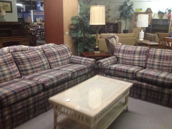 klaussner sofa and loveseat set flexsteel laudes dylan leather reclining plaid lancer ...