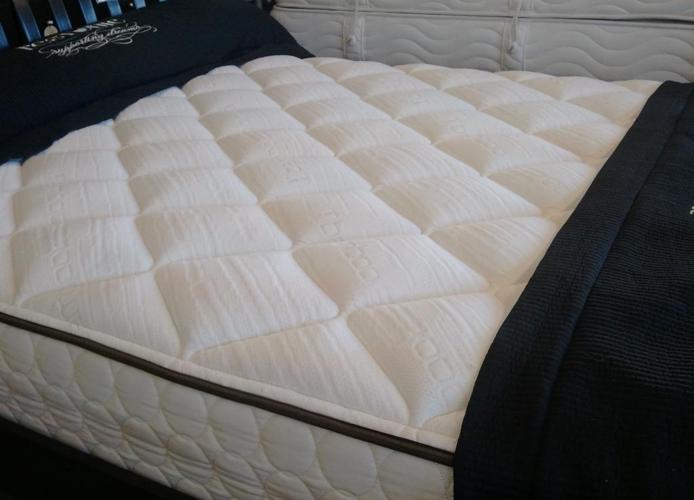 Queen Latex floor model mattress  Medford Mattress for