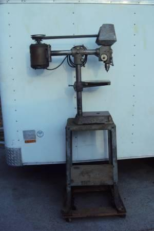 Radial Delta Rockwell Drill Press With Orig Stand For Sale