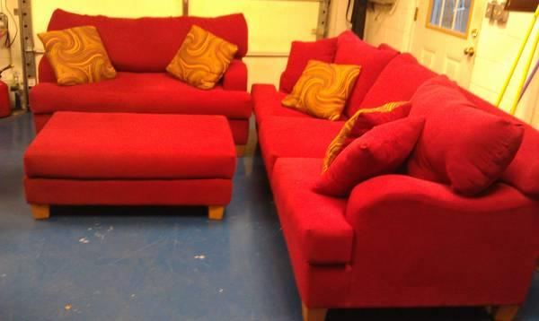 red sofa express couch