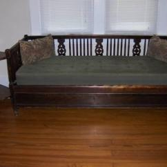 Most Comfortable Sofa Bed Wicker Indoor Reduced - Antique Kindel Davenport Pop-up For ...