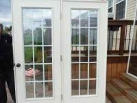 REDUCED!!!! EXTERIOR FRENCH DOORS 5 FT GREAT CONDITION