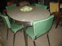 Retro 1950's Chrome Kitchen Dinette Set