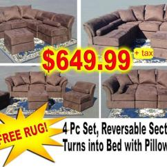 Sofa Liquidation Sale L Shape Set Models Reversabe Sectional Turns Into Bed Or Chair